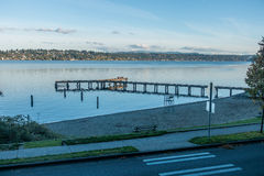 Jeziorny Waszyngton - molo 3 Zdjęcie Royalty Free