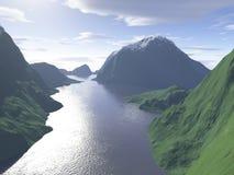 jeziorny widok górski Zdjęcie Stock
