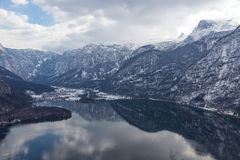 Jeziorny widok Hallstatt, Austria Zdjęcia Royalty Free