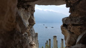 Jeziorny widok Limone Jeziorny Garda Włochy Fotografia Stock