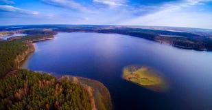 Jeziorny widok od above Fotografia Royalty Free