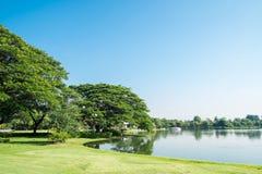 Jeziorny widok przy Suan Luang Rama 9 parkiem Obrazy Royalty Free