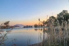 Jeziorny widok w datca, indyk Fotografia Royalty Free