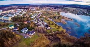 Jeziorny widok z lotu ptaka Zdjęcia Stock