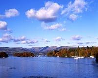 Jeziorny Windermere podczas jesieni Zdjęcia Royalty Free