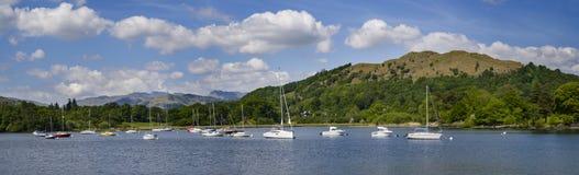 Jeziorny Windermere w Brytyjskim Jeziornym okręgu Zdjęcie Stock