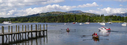 Jeziorny Windermere w Brytyjskim Jeziornym okręgu Fotografia Stock
