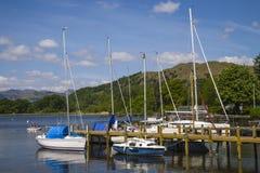 Jeziorny Windermere w Jeziornym okręgu Obraz Stock