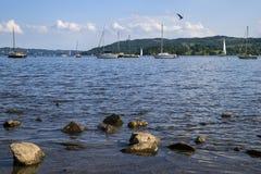 Jeziorny Windermere w Jeziornym okręgu Fotografia Stock