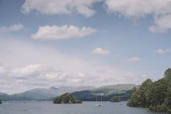 Jeziorny Windermere, widok od na Zdjęcia Stock
