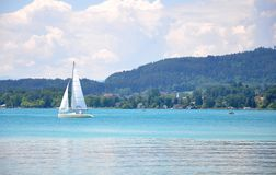 Jeziorny Woerthersee w Carinthia, Austria zdjęcie royalty free