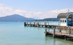 Jeziorny Woerthersee w Carinthia, Austria obraz royalty free