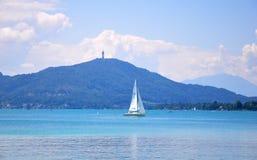 Jeziorny Woerthersee w Carinthia, Austria zdjęcia stock