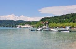 Jeziorny Woerthersee w Carinthia, Austria obraz stock