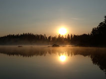 jeziorny wschód słońca Obrazy Royalty Free
