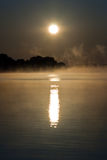jeziorny wschód słońca Zdjęcia Royalty Free