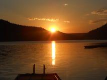 Jeziorny wschód słońca Fotografia Royalty Free