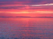 Jeziorny Wyższy zmierzch zdjęcie stock