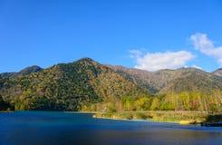 Jeziorny Yunoko w jesieni, w Nikko, Japonia Fotografia Royalty Free