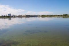 Jeziorny zanieczyszczenie Fotografia Stock