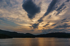 Jeziorny zmierzch Fotografia Royalty Free