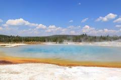 jeziorny zmierzch Yellowstone Zdjęcia Royalty Free