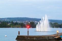 jeziorny Zurich Obraz Royalty Free