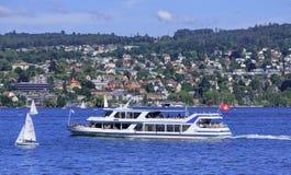 jeziorny Zurich Fotografia Royalty Free
