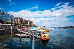 Jeziorny Zurich jest jeziorem w Szwajcaria Obrazy Royalty Free