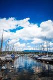Jeziorny Zurich jest jeziorem w Szwajcaria Zdjęcia Royalty Free