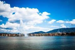 Jeziorny Zurich jest jeziorem w Szwajcaria, przedłużyć południowych wschody Obrazy Royalty Free