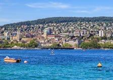 Jeziorny Zurich w lecie Zdjęcia Royalty Free