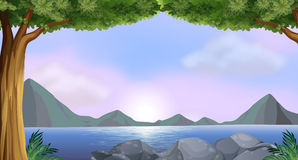Jezioro ilustracji