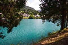 Jezioro Auronzo, Włochy zdjęcie royalty free