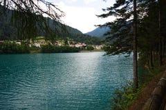 Jezioro Auronzo, Włochy zdjęcie stock