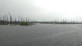 Jezioro bagno przygoda Zła chmura zbiory wideo