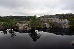 Jezioro blisko Preikestolen Obraz Stock