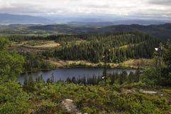Jezioro blisko Trondheim Zdjęcia Royalty Free