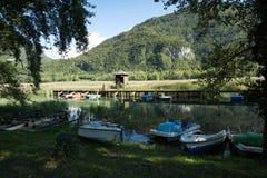 Jezioro Cavazzo, Włochy obraz stock