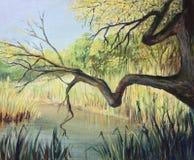 Jezioro cisza royalty ilustracja