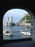 jezioro como łodzi. zdjęcie royalty free