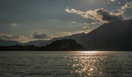 Jezioro como gór alps i Bellagio widok fotografia stock