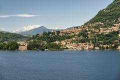 Jezioro Como przy Blevio Zdjęcia Stock