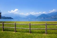 jezioro como Włochy Obrazy Stock