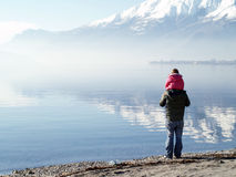 jezioro como Włochy Obrazy Royalty Free