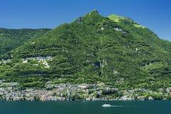 Jezioro Como & x28; Italy& x29; Zdjęcie Royalty Free