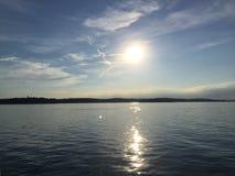 Jezioro Constance Bodensee zmierzch Obrazy Royalty Free