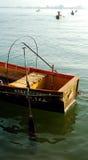 jezioro drewna łodzi Zdjęcie Stock