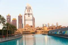 Jezioro Dubaj fontanna Zdjęcia Royalty Free