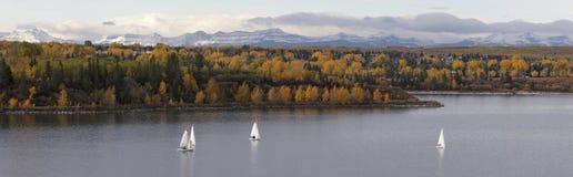 jezioro żeglując Zdjęcie Royalty Free